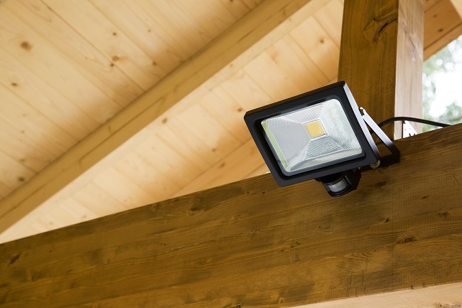 Security light on a shed