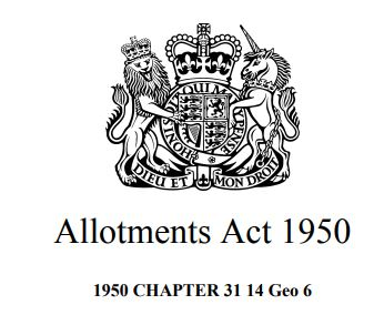 Emblem of the Allotments Act 1950 (UK)
