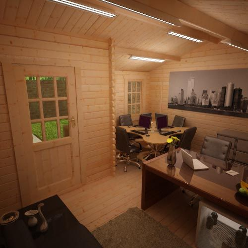 Amur Log Cabin Office Internal