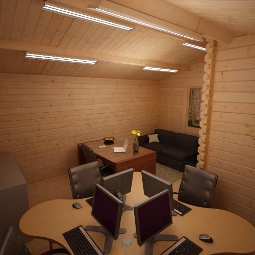 Amur Internal Office Log Cabin