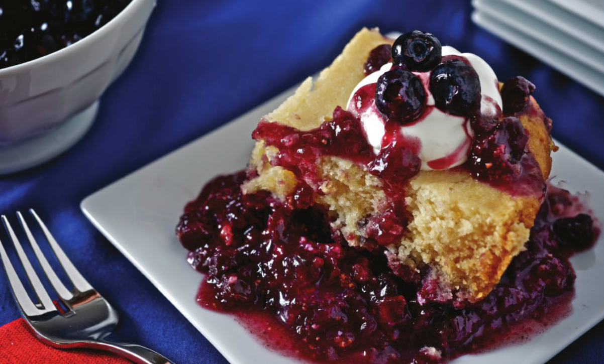 Blueberry Cobbler summer slow cooker recipe