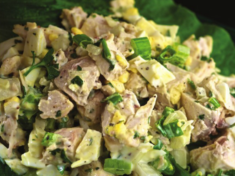 Crabby Chicken Salad summer slow cooker recipe