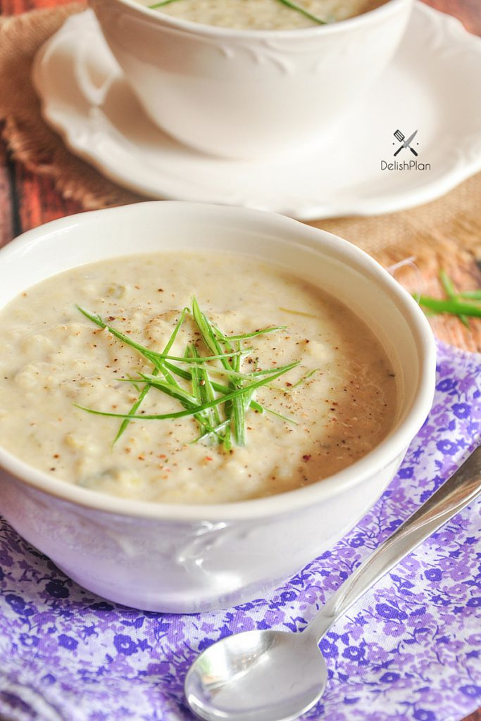 Creamy Cold Potato Soup (Vichyssoise) summer slow cooker recipe