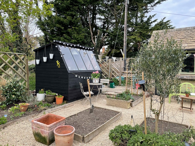 Potting Shed before flowers bloomed