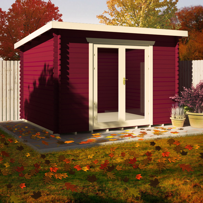 Autumn Cabin painted in Red Cherry.