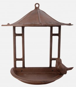 Fallen Fruits Brown Wall Bird Feeder