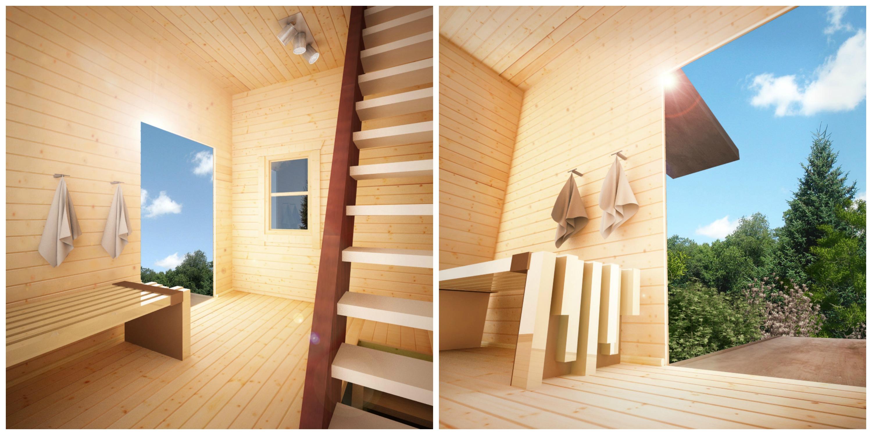 Interior diving cabin
