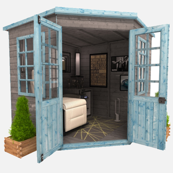 She shed vs the man cave the hip horticulturist for Man cave shed plans