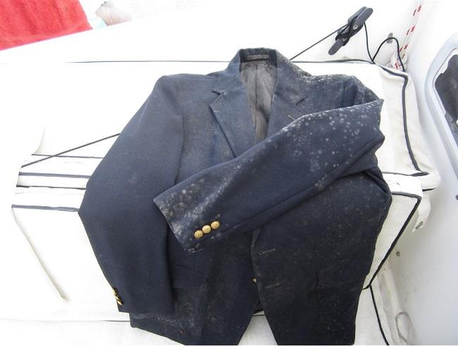 Mildew on suit jacket