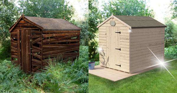 Charmant 60 Minute Shed Makeover