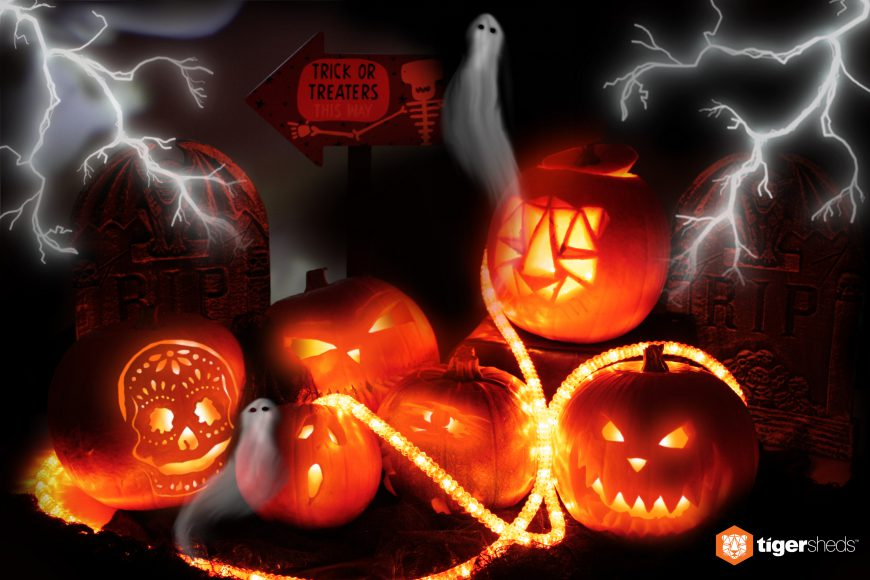 Our spooky creations. Flick through the gallery to find out what happens to a pumpkin in a timber mill...