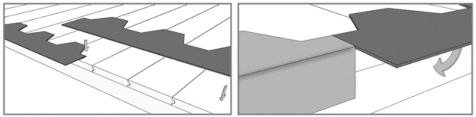 An image to show how to install shingles, step 1