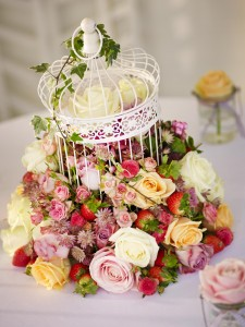 Summer Bird Cage Flower Arrangement