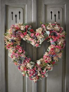 Summer Heart Flower Wreath