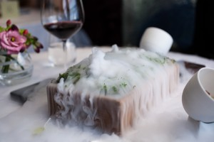 The Fat Duck meal and wine