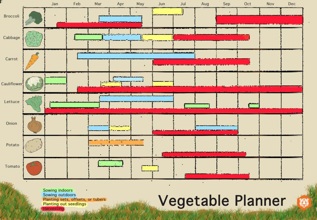 Year Long Vegetable Planner - The Hip Horticulturist