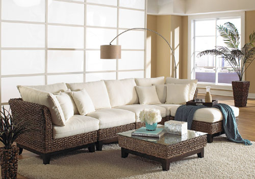 Wicker White Couch.