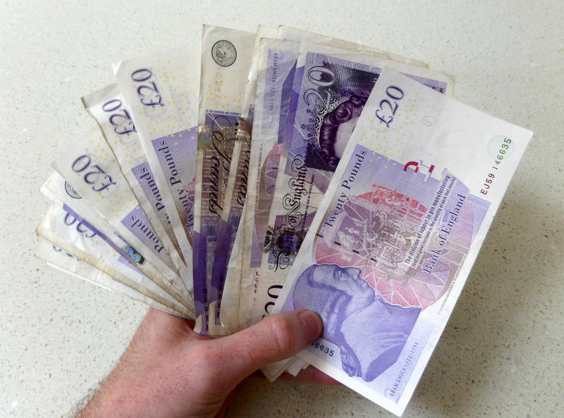 Cash in a hand
