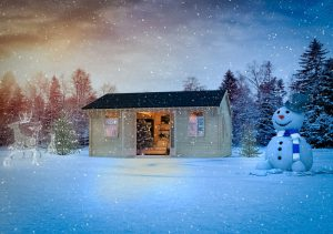 How to decorate your shed for Christmas