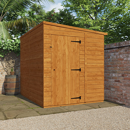 Windowless pent shed