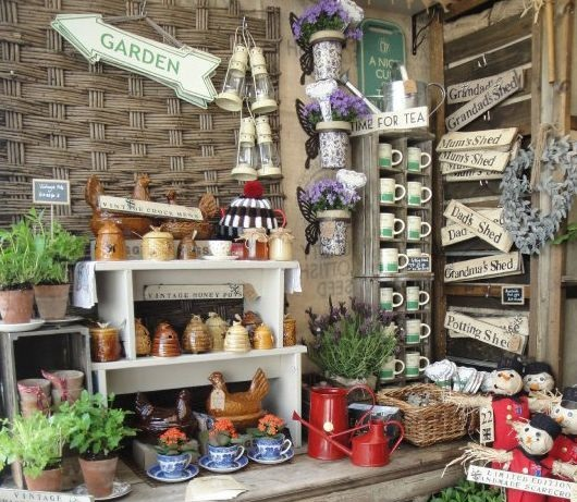 Inside an allotment shed