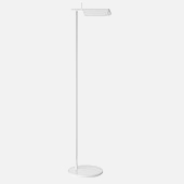 Tall white standing lamp