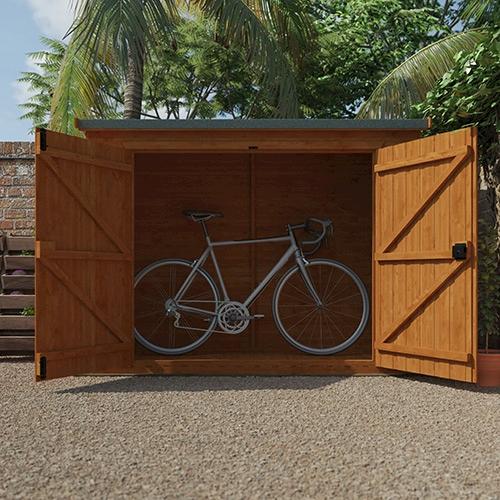 Tiger Pent Bike Store with bike inside