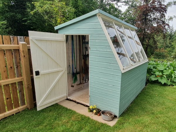 Customer's Tiger Potting Shed (inside and outside)