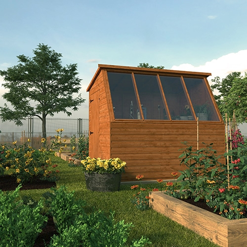 Tiger Potting Shed on an allotment