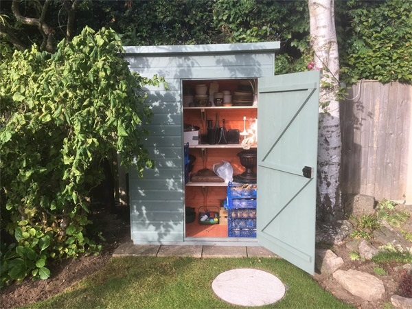 A customer's Tiger Premium Toolshed