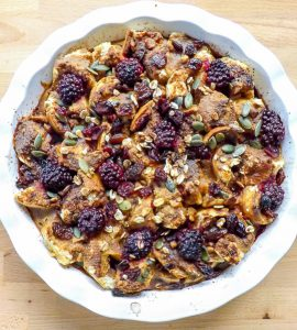 pumpkin fruity breakfast bake