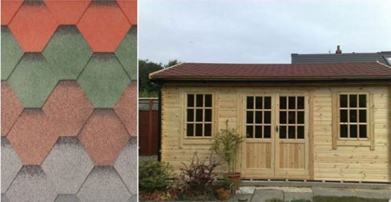 A photo to show shingles and a log cabin