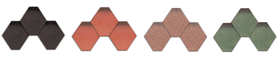 An image showing the colour choice of shingles available