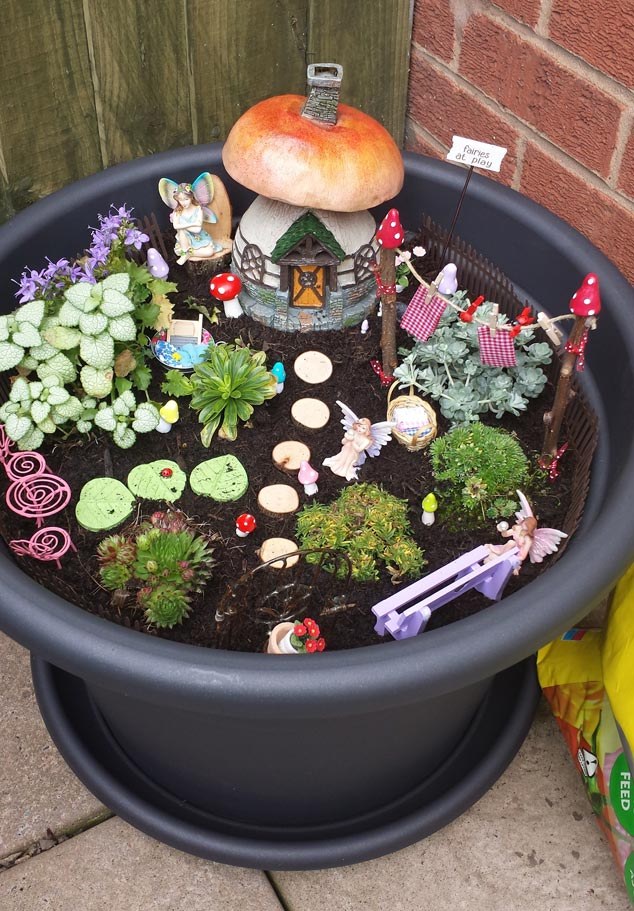 even though theyre only small we think that they give any garden space a quirky and individual touch dont you - Fairy Garden Ideas For Small Spaces