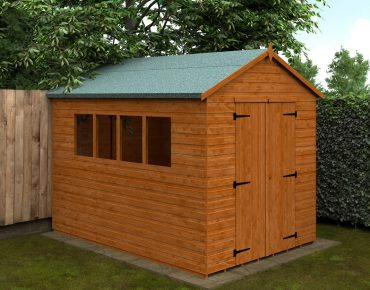 Tiger shed with repaired roof